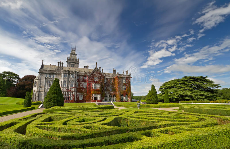 Download Adare manor and gardens stock image. Image of interior - 20090663