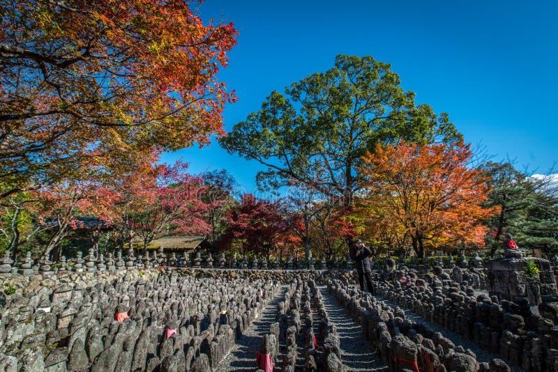 Adashino Nenbutsu籍寺庙,东京 库存照片