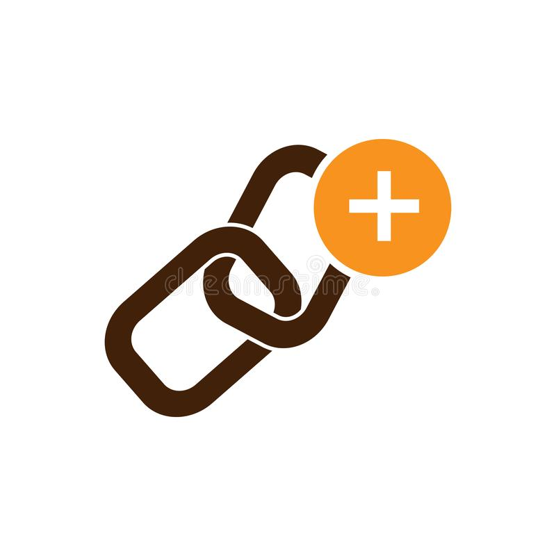 Add, anchor icon. Element of Web Optimization icon for mobile concept and web apps. Detailed Add, anchor icon can be used for web. And mobile on white royalty free illustration