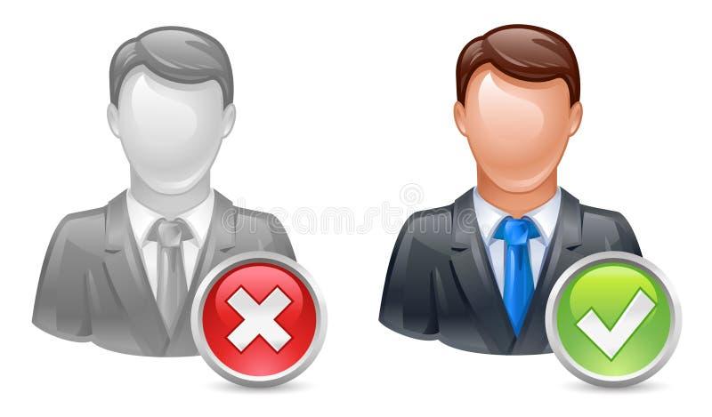Add or delete member. Or user icon vector illustration