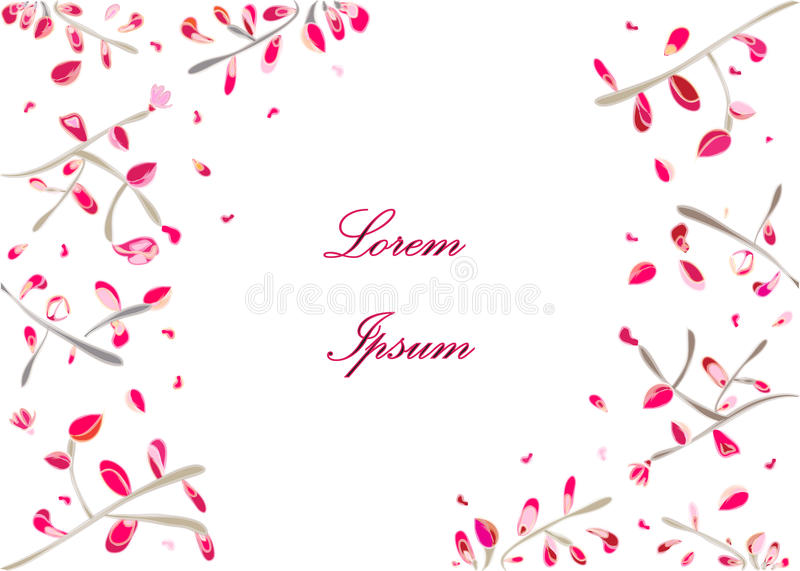Add filler text flowers brush strokes pink red stock photos