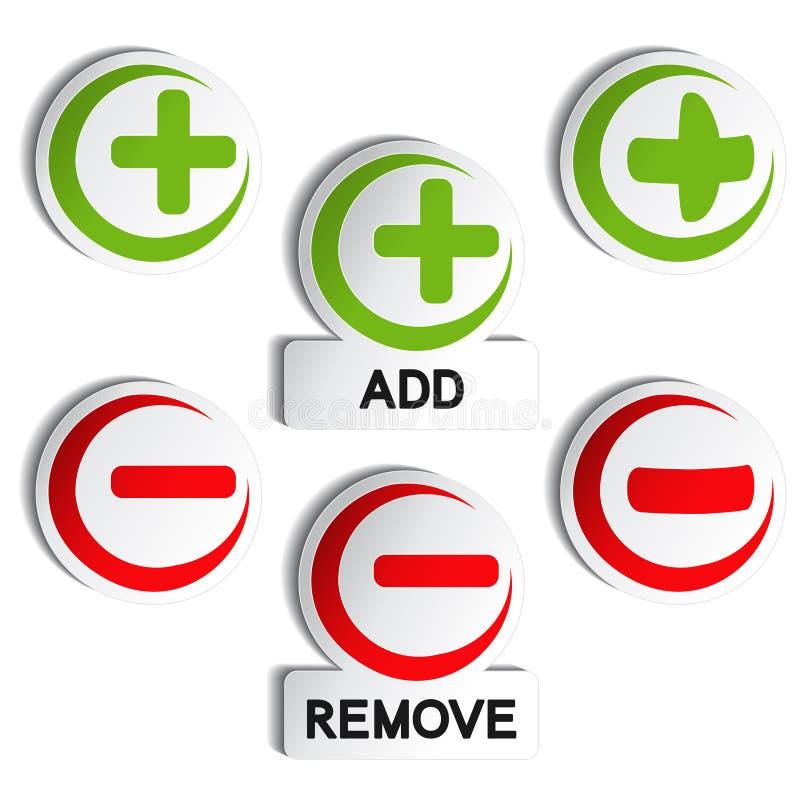 Download Add Remove Item - Plus, Minus Stock Photo - Image: 24227120