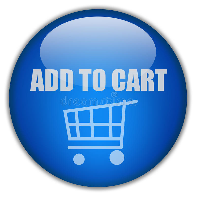 Add to cart button royalty free illustration