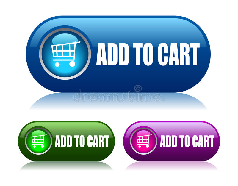 Add to cart button vector illustration