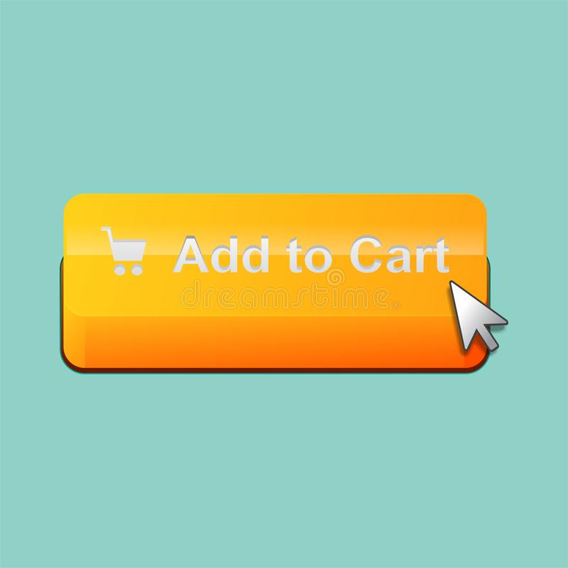 Add to cart button. vector illustration