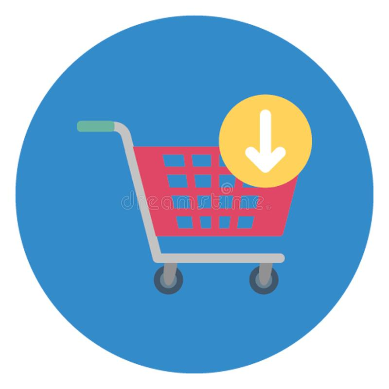 Add to cart, online shopping element Isolated Vector Icon which can be easily edited stock illustration