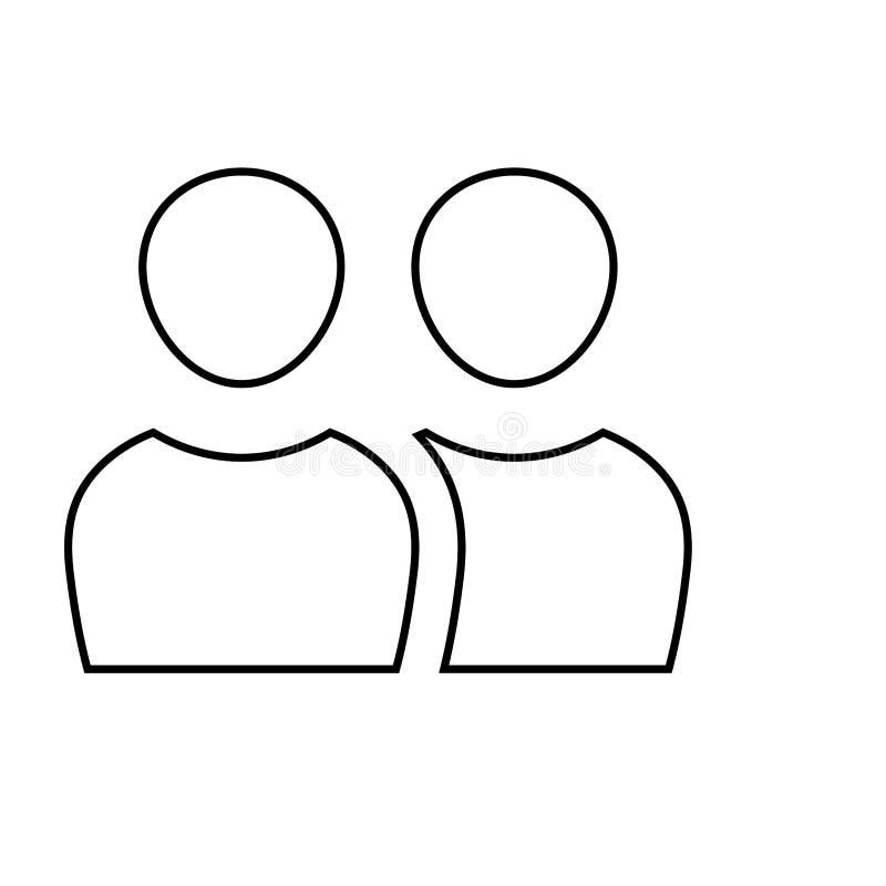 Add user icon. Social media profile symbol. Ä°con, person, add, user, symbol, profile, web, business, sign, vector, avatar, design, human, communication royalty free illustration