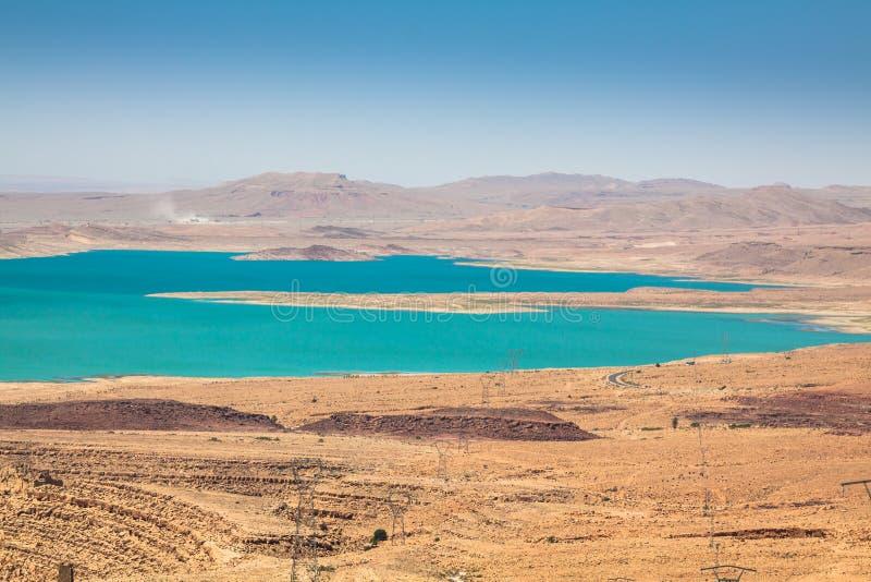 Addakhil de al-hassan do lago em Errachidia Marrocos fotografia de stock royalty free