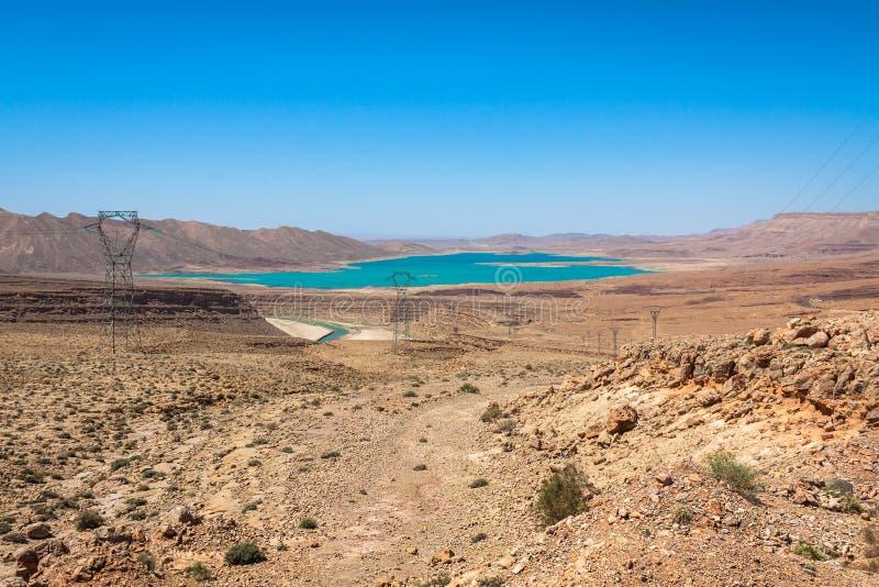 Addakhil de al-hassan do lago em Errachidia Marrocos fotos de stock royalty free