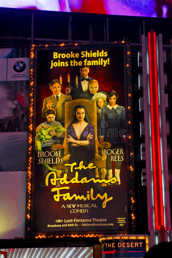 Download The Addams Family Billboard, Times Sq. NYC. Editorial Stock Photo - Image: 22618018