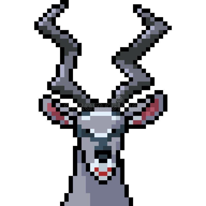 Addax d'art de pixel de vecteur illustration de vecteur