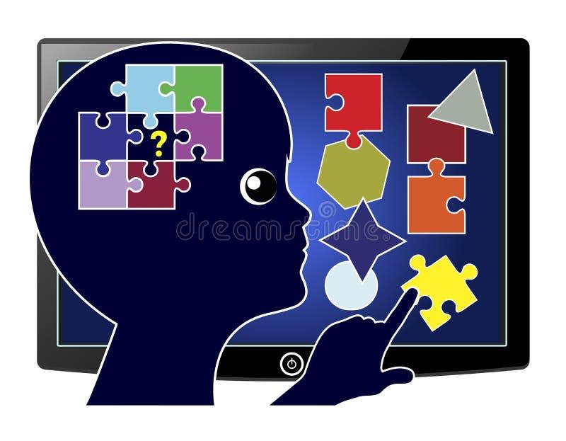 Addestramento computerizzato royalty illustrazione gratis