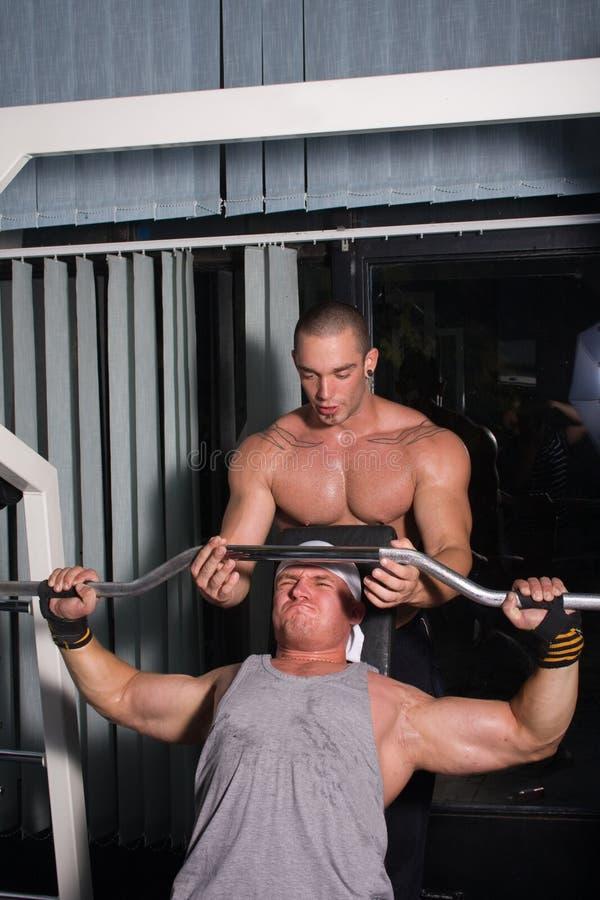 Addestramento dei Bodybuilders fotografia stock libera da diritti