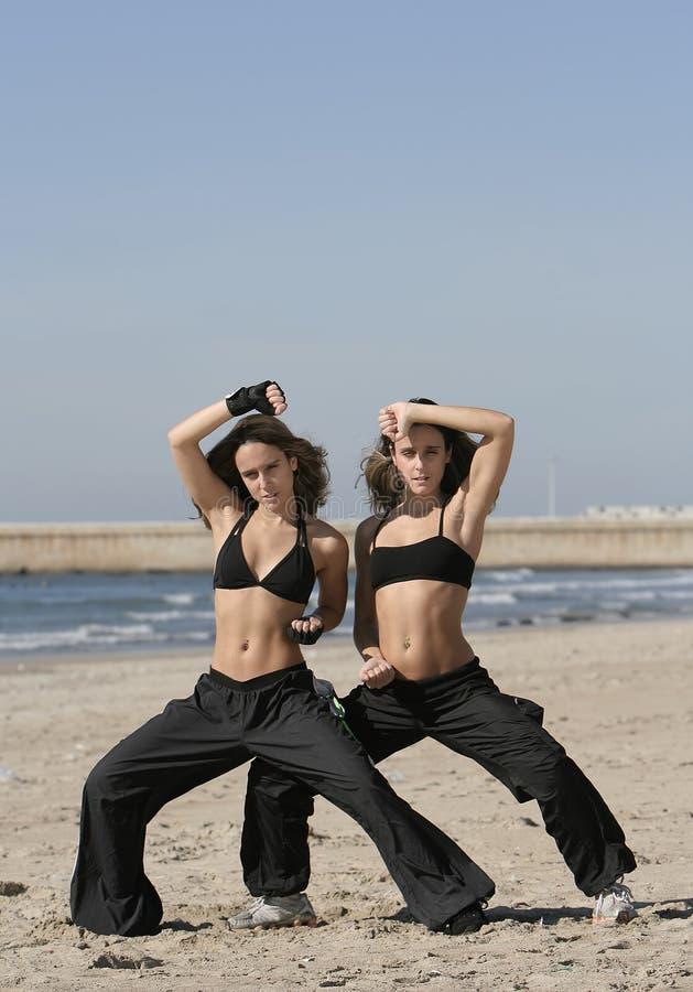 Addestramento dei gemelli fotografia stock