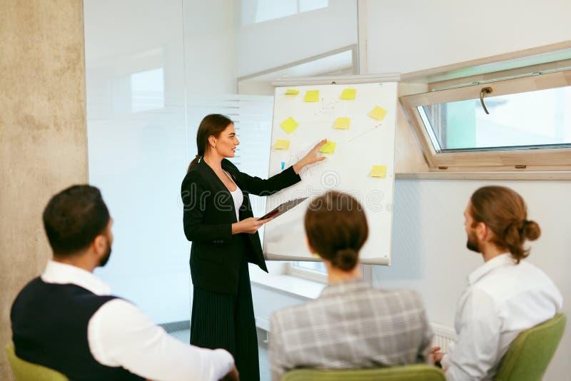 Addestramento di affari La gente che si incontra nell'ufficio immagini stock libere da diritti