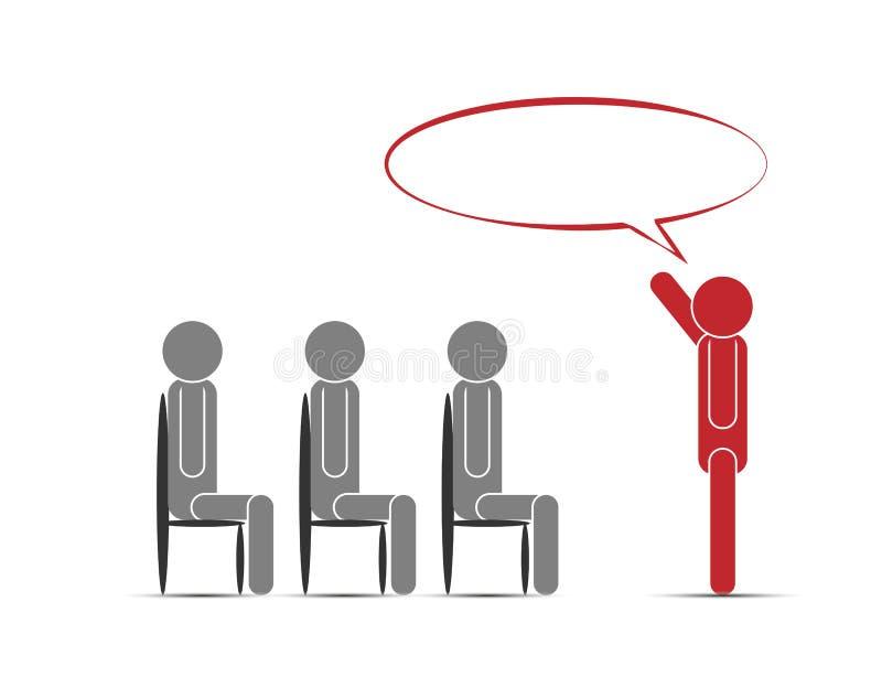 Addestramento di affari di tema nell'immagine concettuale royalty illustrazione gratis