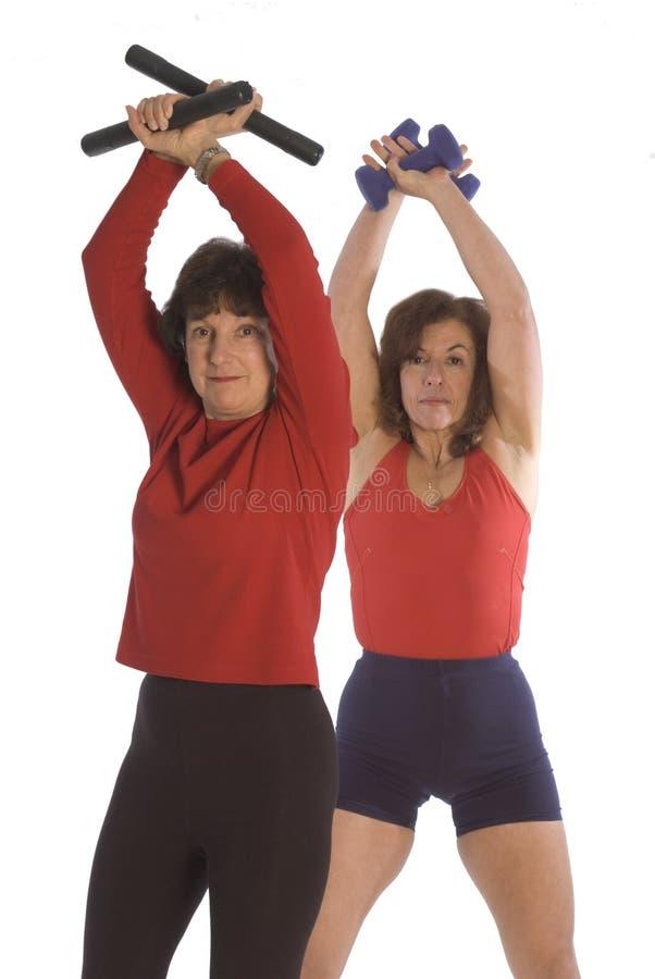 Addestramento di forma fisica per le donne fotografia stock