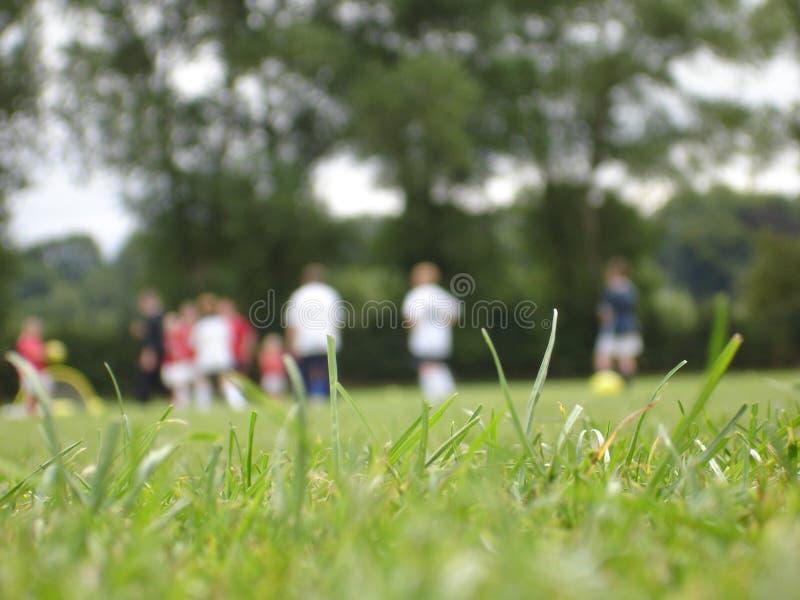 Addestramento di gioco del calcio fotografia stock libera da diritti