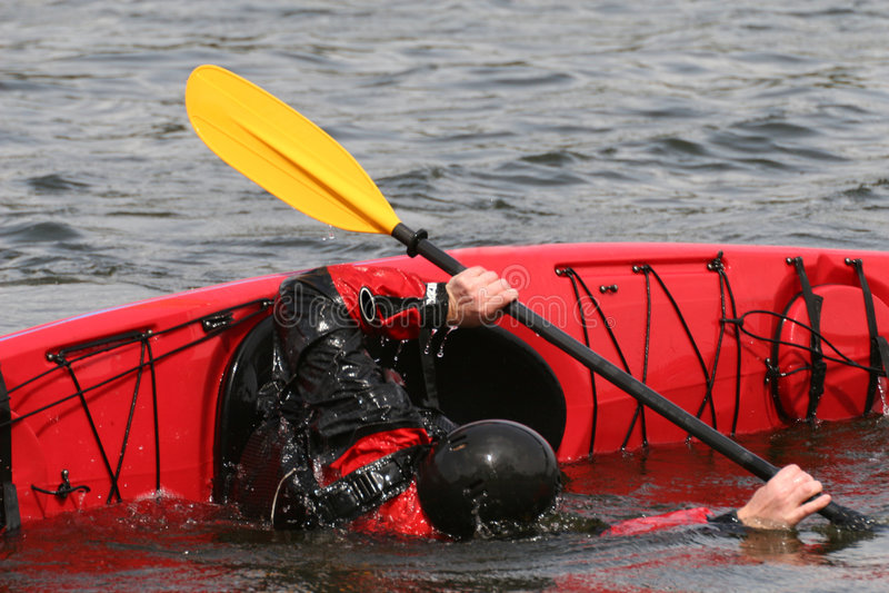 Addestramento di Seakayak fotografie stock