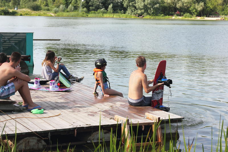 Addestramento di Wakeboard immagini stock libere da diritti