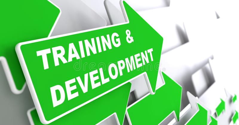 Addestramento e sviluppo. Concetto di istruzione. illustrazione vettoriale