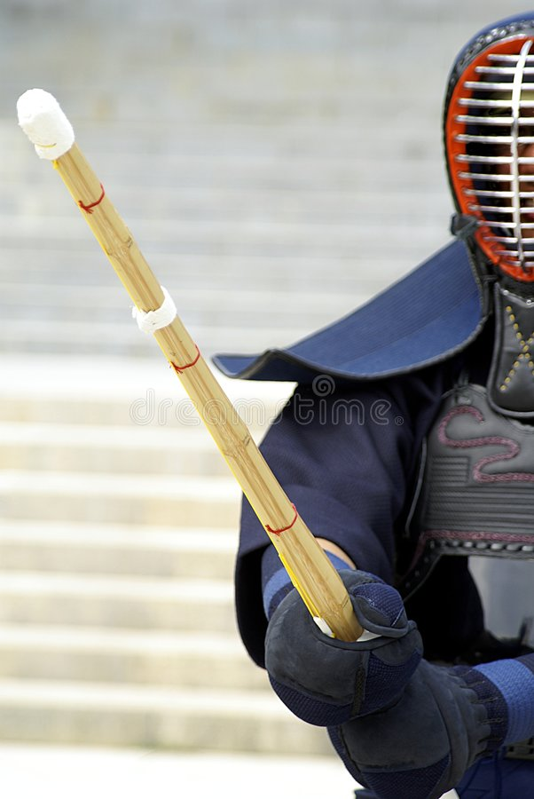 Addestramento giapponese di kendo fotografie stock