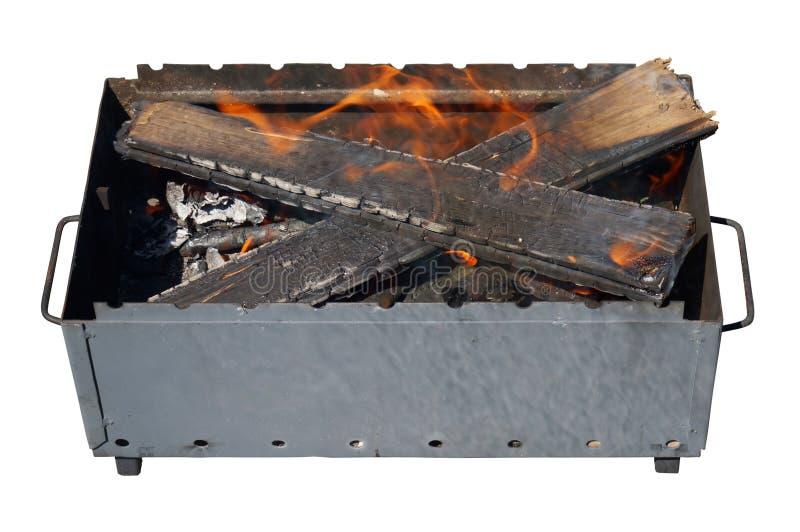 Addetto alla brasatura del contenitore di ferro isolato immagini stock