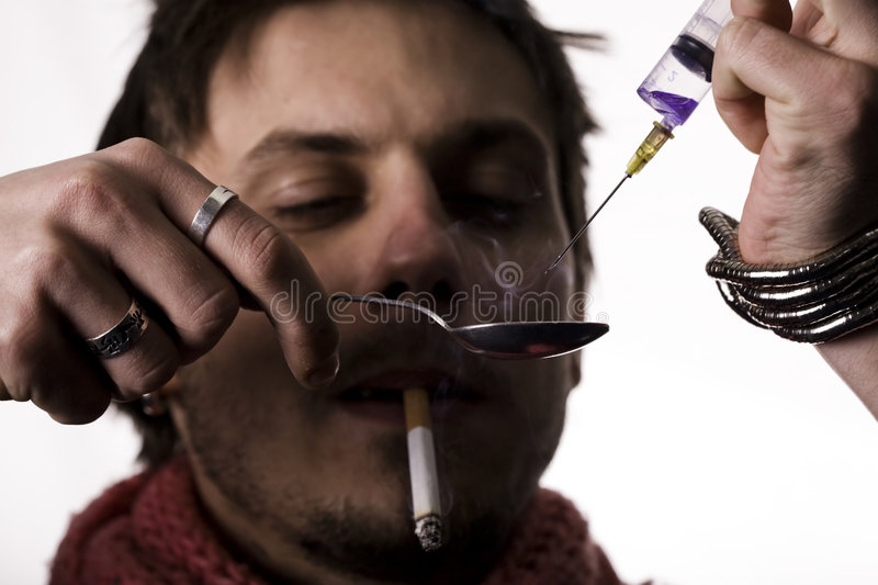 Download Addict With Heroin Dose Stock Photography - Image: 8521592