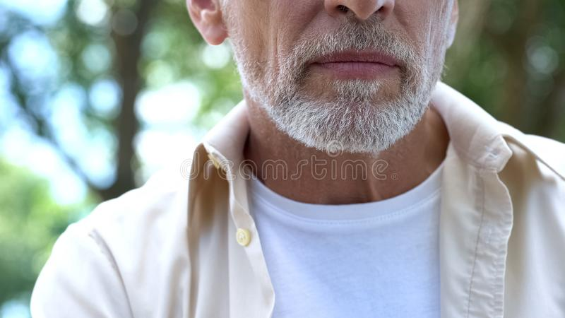 Addicted man in rehabilitation center, alcohol and drugs addiction, gambling stock image