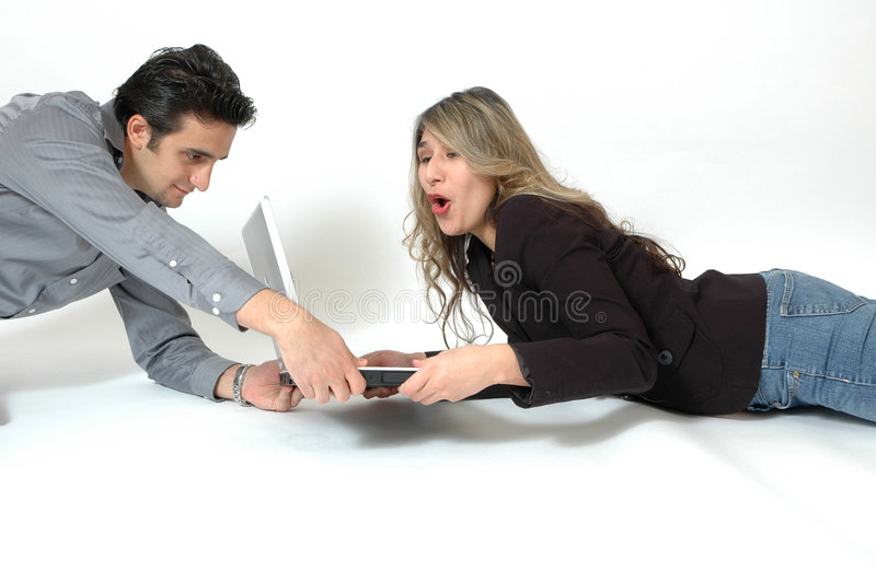 Addicted to the Computer stock photography