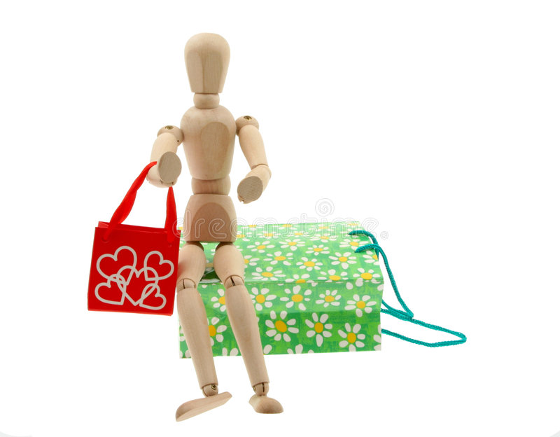 Addicted to shopping #2 royalty free stock image