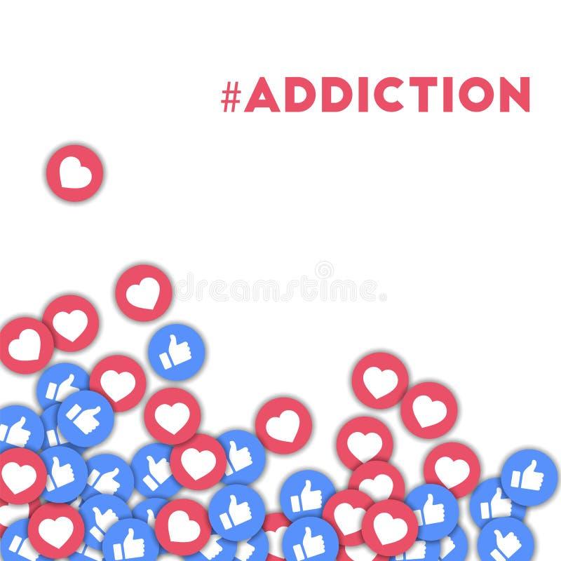 #addiction ilustração stock