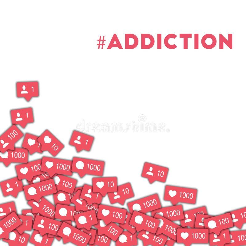 #addiction ilustração royalty free