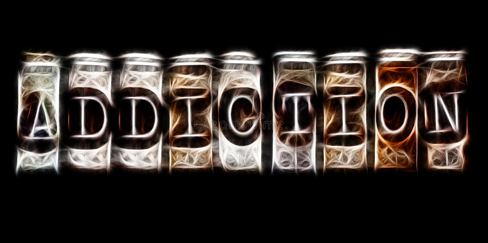 Download Addiction concept stock illustration. Image of word, addictive - 35421893