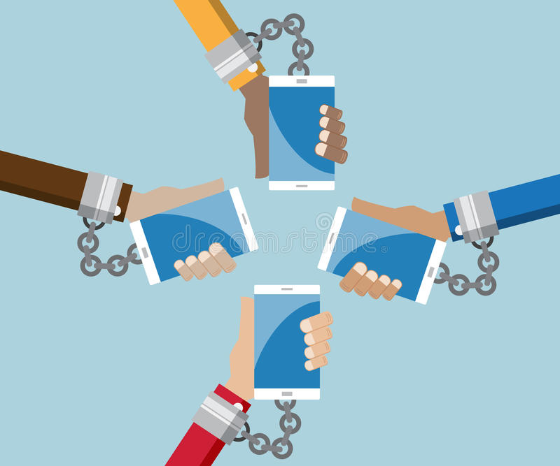 Addiction social media concept vector royalty free illustration