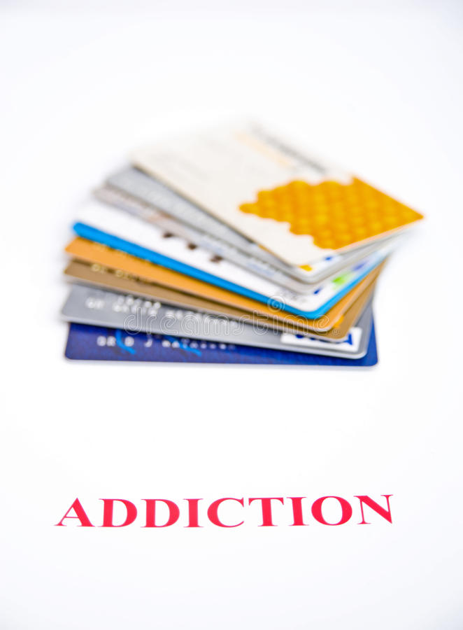 Download Addiction to credit ? stock image. Image of casino, hazard - 11880523
