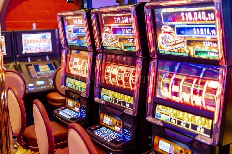 Addictive slot machines, ready to gamble royalty free stock image