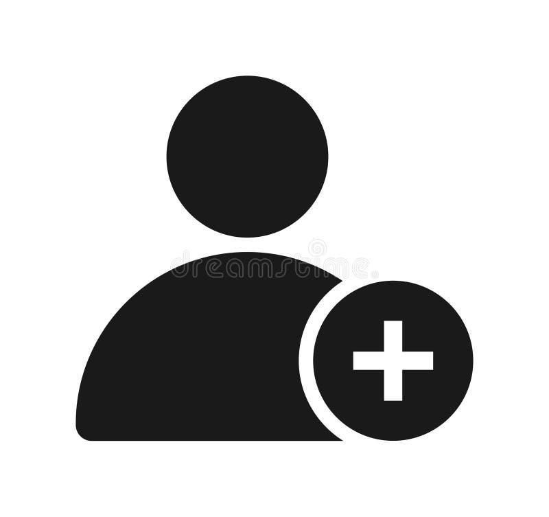 Addieren Sie Benutzerlinie Ikone vektor abbildung