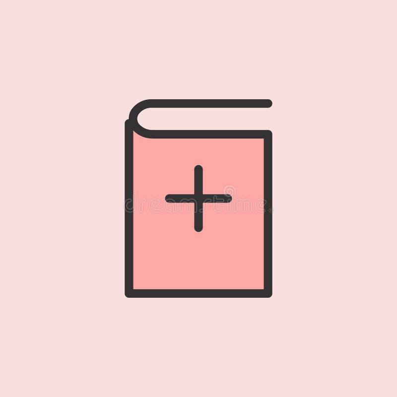 Addieren Sie Buchikone Element der Farbbildung für bewegliche Konzept und Netz apps Illustration Dünne Linie Ikone für Websitedes stock abbildung