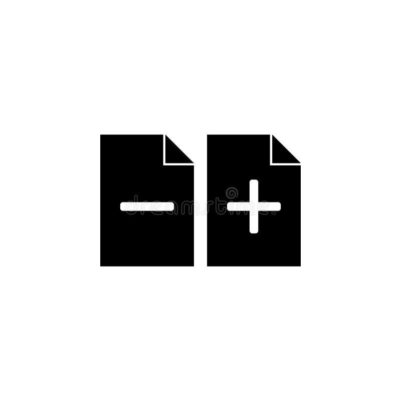 addieren Sie und entfernen Sie eine Blattikone Element der Netzikone für bewegliche Konzept und Netz apps Lokalisiert addieren Si stock abbildung