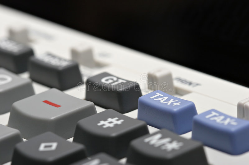 Adding machine - tax + royalty free stock images