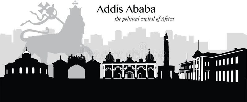 Addis Ababa, Ethiopië stock illustratie