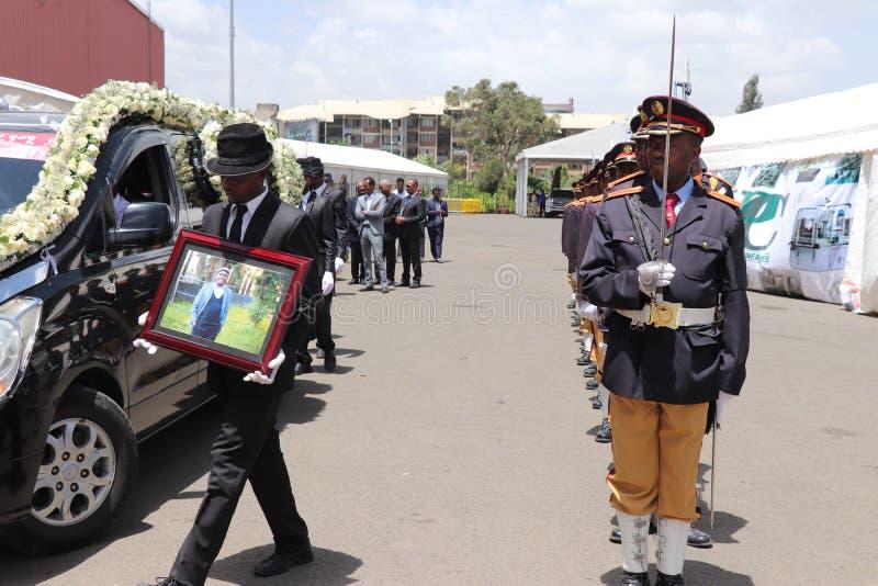 Addis Ababa, Ethiopia May 5, 2019: Former Ethiopian President Negasso Gidada Laid to Rest. Former Ethiopian President Negasso Gidada Laid to Rest stock photography