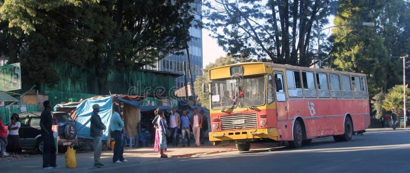 Addis Ababa gator royaltyfri bild