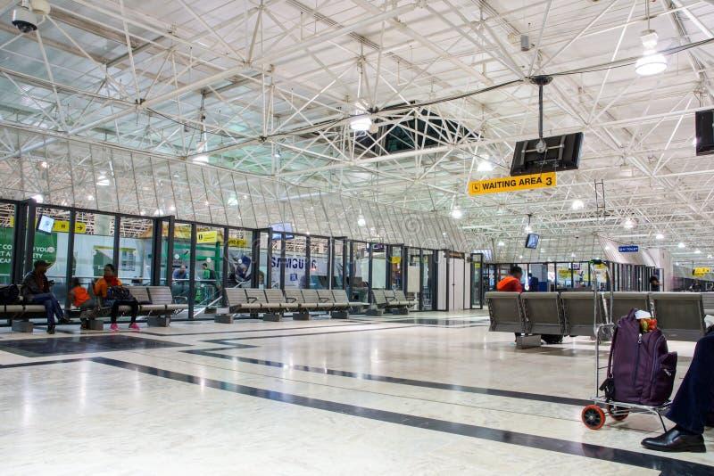 Addis Ababa International Airport, Ethiopia. A waiting area inside Addis Ababa International Airport, Ethiopia royalty free stock photo