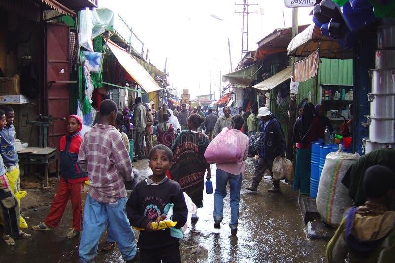 Addis Ababa marknad royaltyfri foto