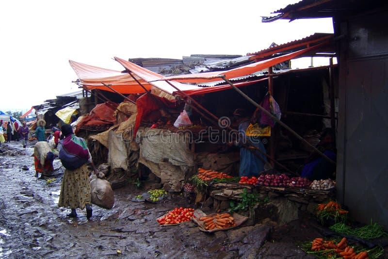 Addis abebamarknad royaltyfri foto