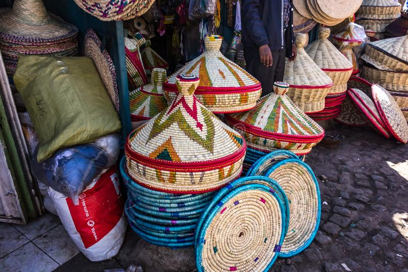 Addis Mercato in Addis Abeba, Ethiopia in Africa. Addis Mercato in Addis Abeba, Ethiopia, the largest market in Africa stock photography