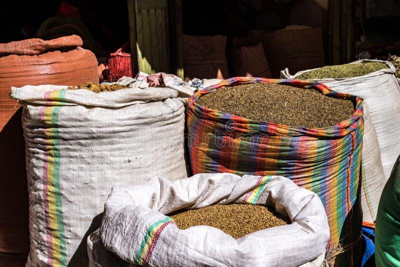 Addis Mercato w Addis Abeba, Etiopia w Afryka fotografia royalty free