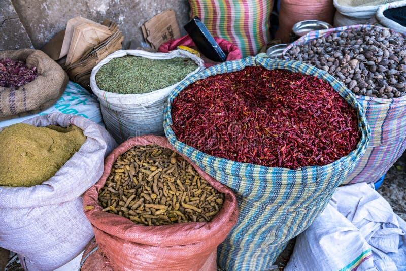 Addis Mercato w Addis Abeba, Etiopia w Afryka obrazy royalty free